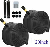 """2 x 20"""" inch Bike Inner Tube 20 X 1.75-2.15 Bicycle Rubber Tire Interior BMX"""