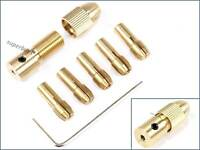 2.35mm 7pcs Small 0.5mm - 3mm Brass Collet Electric Drill Bit Chuck Wrench Tool
