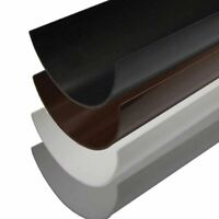 112mm Half Round Guttering Pipe Various Lengths Pipe White, Black, Grey, Brown