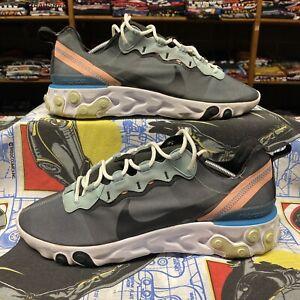 Nike React Element 55 Running Shoes Sneakers Blue BQ6166-300 Men's 12