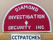 DIAMOND INVESTIGATION SECURITY INC MICHIGAN (POLICE) SHOULDER PATCH MI