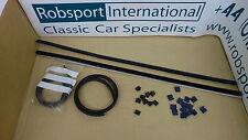 Triumph Stag ** Weatherstrip Kit-Porte Verre-Intérieur, extérieur + clips-Voiture Set! **