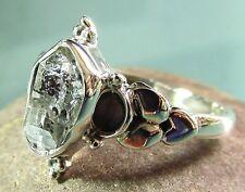 Sterling silver everyday Herkimer diamond quartz stone ring UK R/US 8.75