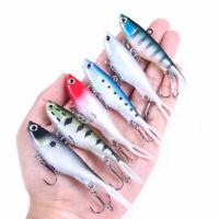 6pcs Soft Jig Ice Fishing Lures 9.5cm/20g Wobbler Jigging Fish Bait VIB Tackle