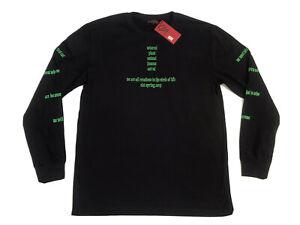 CLOT Apparel T Shirt Circle Of Life Long Sleeve Graphic Black Tee Small
