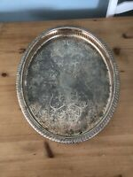 Antique/Vintage Tray, Silver-plated & Brass-plated Cavalier Tablewear of England
