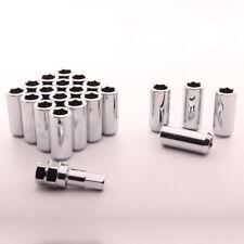 Inbus Stahl Lug Nuts M12 x 1.5 Radmuttern 45mm CHROM 20 Stück Kegel