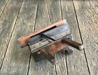 Antique Wood And Brass Plough Plane Tool - Collectible Plow Plane