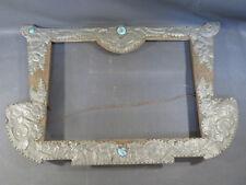 Ancien très vieux cadre en bois et décor en zinc vintage french antique frame
