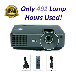 BenQ MX520 DLP Projector 3000 ANSI HD HDMI 1080p - Only 491 OEM Lamp Hours Used!