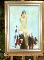 huile /toile  - Jeune femme nue   - signée Alexander SHEVCHUK