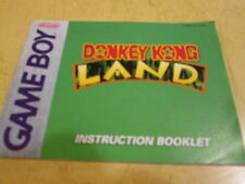 INSTRUCTION BOOKLET FOR THE VERY FIRST GAME BOY GAME  DONKEY KONG LAND