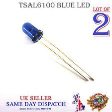 2x 950 µ IR LED Lámpara Azul 5 mm ir emisor tsal 6100 de alta potencia