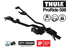 THULE ProRide598002 Black roof top upright bike carrier-City Crash tested