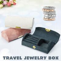 Portable Jewelry Box Ring Display Organizer Case Earring Storage Holder Travel