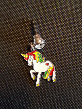 My Rainbow Unicorn  Cell Phone Strap Plug charm Apple Jack Fits most cell phones