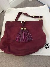 Mulberry Greta Hobo Raspberry Lambskin Large Leather Bag Leopard Toggles 1e7994c6e37c3