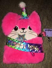 Claire's Birthday Girl Plush Bunny Rabbit Diary Notebook Journal Lock Key