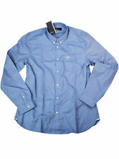 Fred Perry Button-Down Langarmhemd M3551 111 Classic Oxford Shirt Mid Blue 7345