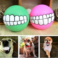 Pet Dog Toy Indestructible Solid Rubber Ball Training Chew Play Fetch Bite Toys