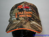 COLE COUNTY INDUSTRIES CONCRETE Jeff City MO Advertising CAMOUFLAGE CAMO HAT CAP