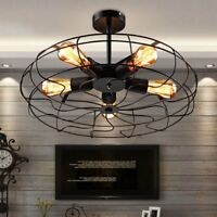 54CM Industrial 5-Lights Chandeliers  Semi Flush Metal Pendant Ceiling Fixtures