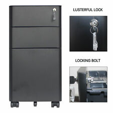 Metal 3 Drawer Vertical File Cabinet With Lock Mobile File Cabinet Full Assemble