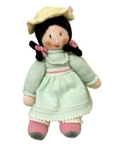 Handknitted Crochet Girl Rag Doll Handmade Amigurumi Stuffed Toy 49CM