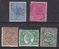 Queensland ^# 85a/103 x5 Victorias Classics $@dca328que