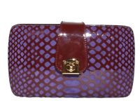 SERGIO ROSSI Patent Leather and Suede Clutch Bag