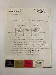 Original GE Apollo Systems Department ASD Equipment Identification Stickers
