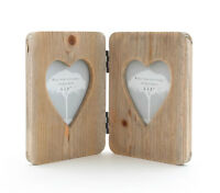 Wooden Heart Rustic Wood Photo Picture Frame