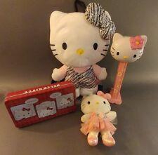 Hello Kitty lot. Jumbo Pez-Kawaii Tin-Back pack-Ballerina plush. Sanrio