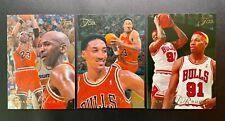 1995-96 Flair Showcase Michael Jordan #15 Scottie Pippen #18 Dennis Rodman #160