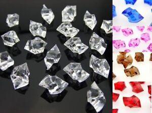 CraftBuddyUS100xAcrylic Scatter Crystal Nuggets Ice Chunks,Confetti,Wedding Vase