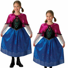 Girl's Deluxe Anna Frozen Disney Princess Fancy Dress Costume Age 3-8
