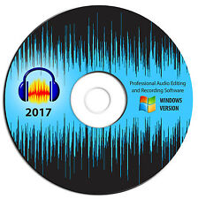 NEW 2017 Professional Audio Editing Recording Software-Studio MP3 Sound Music-CD