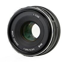 35mm f/1.7 meike lente para micro four thirds, multicoated