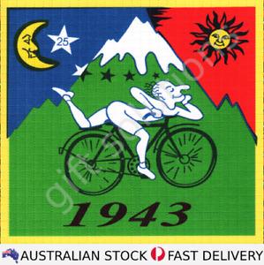 Albert Hofmann 1943 Bike Ride LSD Blotter Art 900 tabs 30x30
