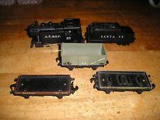 Ho Train Lot Marx-4. 4 Marx Hornby Locomotive/Freight Cars
