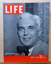Life Magazine - Aug 7, 1939 - World's Fair at Night - Donn Fendler lost in Maine