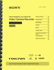 Sony NEX-FS700 Operating Guide User Manual