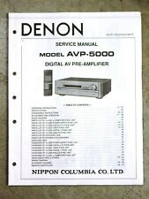 Denon Avp-5000 Dealer Service Manual Original Not a Copy