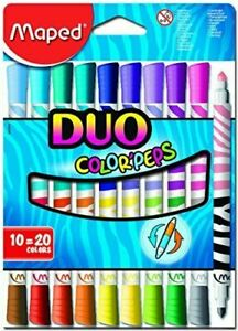 Maped Color'Peps Duo Colouring Pens - 20 colours (Pack of 10)