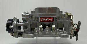 Edelbrock Marine Carburetor 600 CFM Electric Choke #1409 Factory Rem -See our Ad