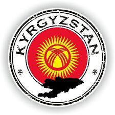 Kirguizistán Sello Pegatina para Coche Camión Portátil Tablet Nevera Puerta