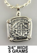 Mel Fisher Atocha Pirate Spanish Coin Shipwreck Pendant Key West Silver