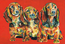 "Doxie Dachshund Dog Print Matted 11""x14"" Limited Edition"
