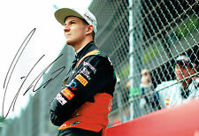 Nico HULKENBERG SIGNED Autograph Force India F1 12x8 Pit Lane Photo AFTAL COA