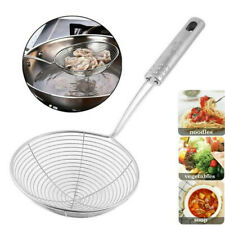 New listing 1*Mesh Net Strainer Stainless Steel Wire Skimmer Spoon Filter Ladle Kitchen Tool